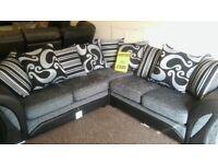 Larger corner sofa and matching 2 seater sofa.