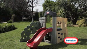 Little tikes slide and climber