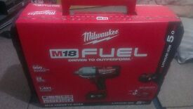"""Milwaukee M18 CHIWF12 18v FUEL 1/2"""" Impact Wrench 5Ah Battery - BRAND NEW"""