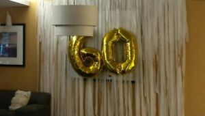 60th  Gold Foil balloon ( sixty birthday decorations)