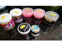 Mixed unused boilies and box