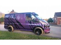 modified ford transit van body kit fully boarded 2 owners full history