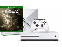 Xbox ONE S 500 GB with FALLOUT 4 like NEW BOXED condition 4K Ultra HD Blu-ray