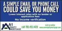 Equity Loans of All Types! Low rates and no application fees!