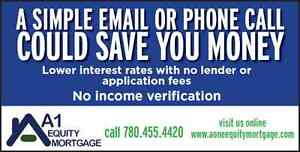 Equity Loans of All Types! Low rates and no application fees! Edmonton Edmonton Area image 1