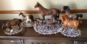 Pottery (Beswick) horses collection