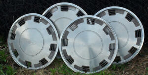 Set of Classic Ford Stainless Steel Wheel Covers 14""