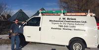 Plumbing/Gas Fitting.  JW Brian Mechanical