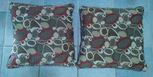 2 large decor cushion, very good, clean condition