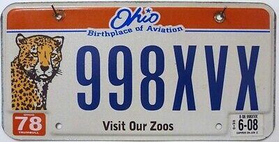 -1- OHIO Nummernschild / Zoo Graphic US License Plate USA Auto-Kennzeichen ≡