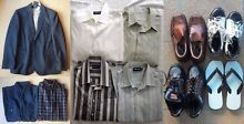 Just Jeans Jacket, 6 Casual Shirts, Size L and Men's Shoes
