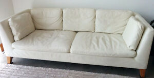 Leather Sofa-Off white