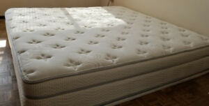 BEDROOM - CUSTOM THERAPEDIC MATTRESS AND SUPPORT (SPRING BOX) !!