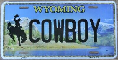 Nummernschild Cowboy Wyoming 30x15cm USA License Plate Blechschild