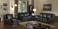 3PC Genuine Leather Sofa Set $2998