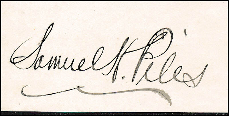 SAMUEL H. PILES - SIGNATURE(S)