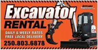 Excavator hire with or without driver