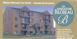 Logement à louer à St-Nicolas (Lévis)