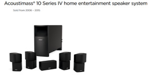 Bose Acoustimass10 Serie IV (Home theater speakers system)