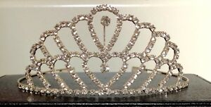 Italian design 925 silver plated Australian crystal crown/tiara