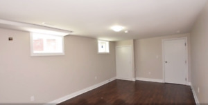 New two bedroom basement for rent near downtown Brampton