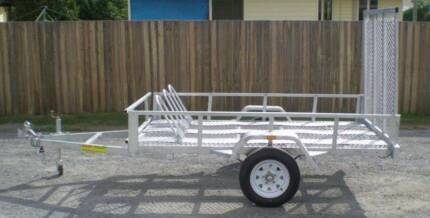 8X5 MOTORCYCLE BIKE TRAILER ATV BUGGY TRAILER FREE REGO Logan Area Preview
