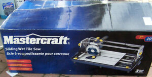 Sliding Wet Tile Saw, Mastercraft