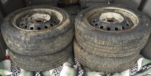 """14"""" Steel Wheels 4x100 5.5Jx14 With Tires 175/65R14 Stratford Kitchener Area image 1"""