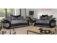 **brand new sheldon 3n2 seater sofas with free footstool **