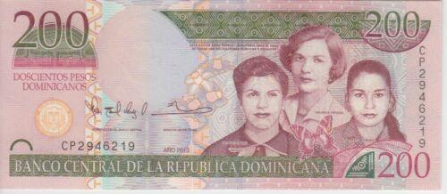 Dominican Republic Banknote P185 200 Pesos 2013 Prefix CP, UNC