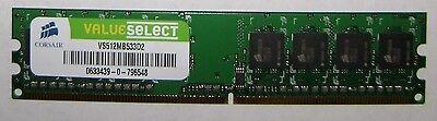 Corsair Value Select 512MB, DDR2 RAM, 533 MHz, DIMM 240-pin -
