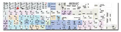 Ableton Live Keyboard Stickers !!! NEW !!! Apple Standard Size Keys