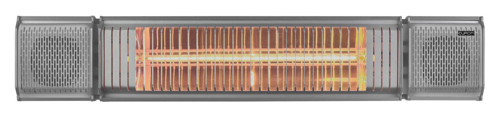 EUROM Heat and Beat Terrassenheizung Heizstrahler mit Bluetooth Lautsprechern