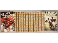 Attack on Titan manga Vol.1-20 + Guidebook