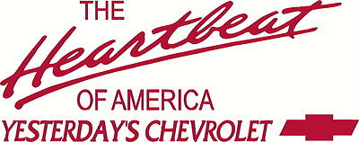 Heartbeat Of America Yesterdays Chevrolet Vinyl Decal Your Color Choice Sticker