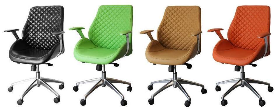 212626 Bürodrehstuhl Designer Drehstuhl Chefsessel PANTERA grün