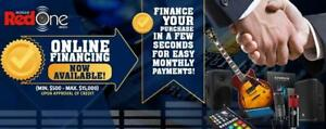 ONLINE FINANCING NOW AVAILABLE AT MUSICREDONE.COM *NEW*