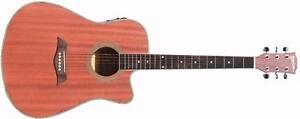 Acoustic Electric Guitar Natural iMusic231 installed EQ 41 inch Full size guitare acoustique