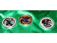 Superheroes Hulk, Spiderman & Thor 1oz Silver Coins