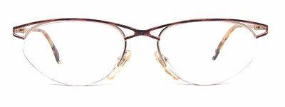 Vintage Club LA 5027 Womens Semi Rimless Tortoise Oval Cat Eye Glasses 90s Italy