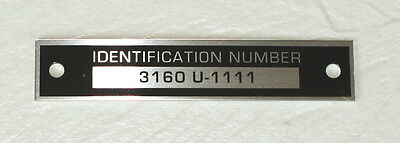 Ih Cub 154 184 185 Lo-boy Aluminum Id Plate For Model 3160 Mowing Deck - New