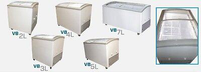 Commercial Curved Lid Display Freezer Wled Vb-4l