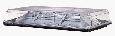 Federal Signal Highlighter Led Amber Clear Lens Lightbar Suctmag 454100hl-25