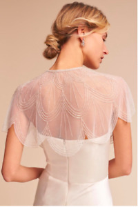 Stunning Jenny Yoo Bridal Gleam Capelet Small, ivory, never worn