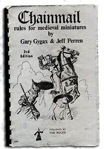 CHAINMAIL rules for medieval miniatures-vintage dungeon pre AD&D