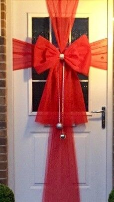 Diy Christmas Door Bow