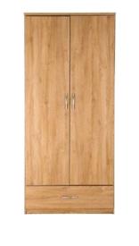 Peru 2 door, 1 drawer wardrobe.