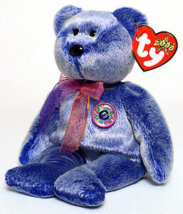 Periwinkle the e-Bear Ty Beanie Baby stuffed animal