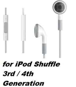 Earphones Headphones for Apple iPod Shuffle 3rd 4th Generation with Remote UK
