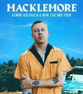 2 General admission Macklemore tickets